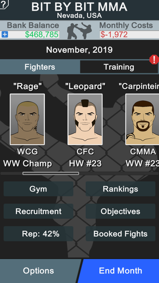 MMA Manager Screenshot 2