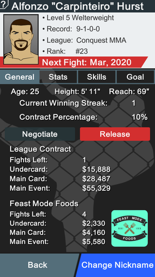 MMA Manager Screenshot 3